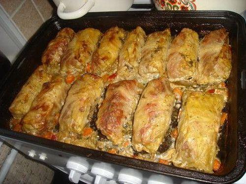 Голубцы в духовке с сыром рецепт пошагово